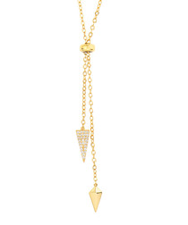 Lily gold-plate & zirconia necklace