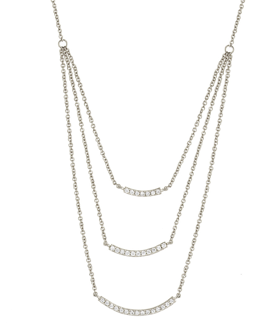 Lily white gold-plated layered necklace Sale - sole du soleil