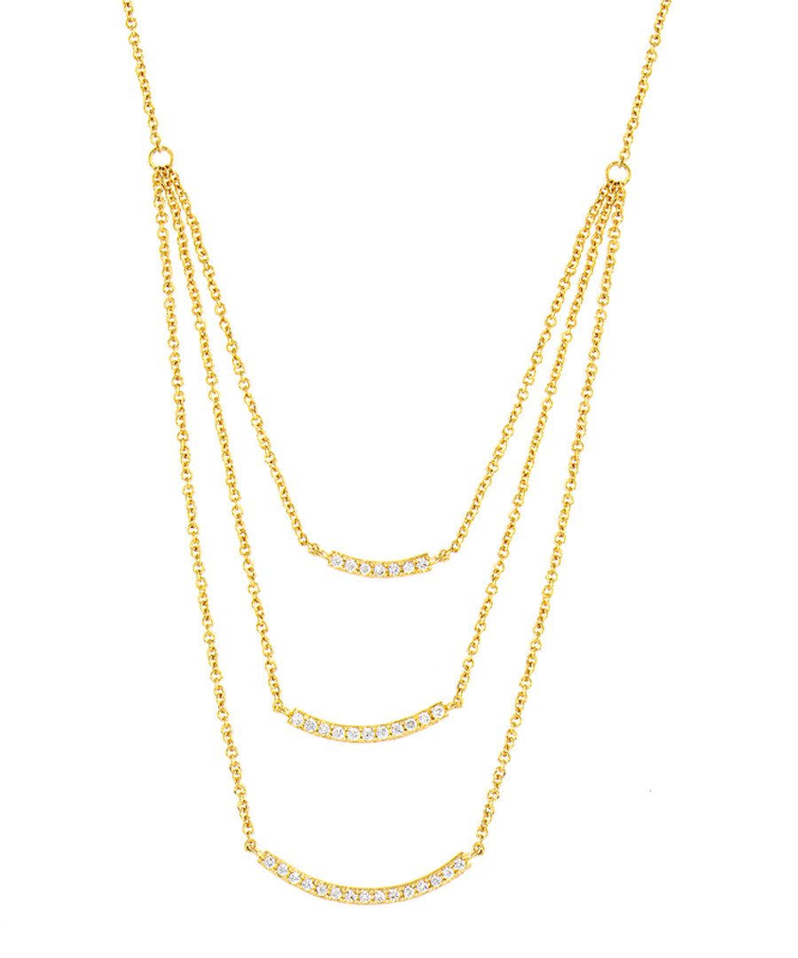 Lily gold-plated layered necklace Sale - sole du soleil