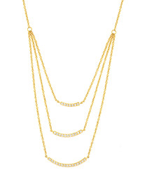 Lily gold-plated layered necklace
