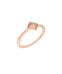 Lupine rose gold-plated ring