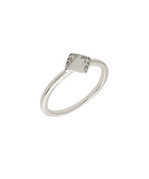 Lupine white gold-plated ring