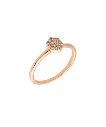 Daffodil rose gold-plate & zirconia ring