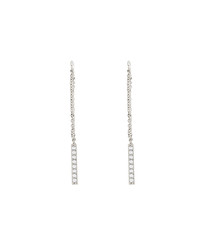 Lily white gold-plated drop earrings