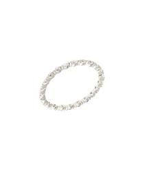 Petunia white gold-plate & zirconia ring