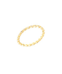 Petunia gold-plated zirconia ring