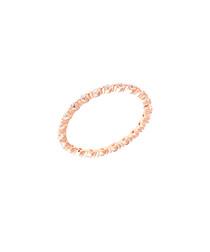Petunia rose gold-plate & zirconia ring