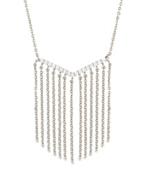 Lily white gold-plated tassel necklace