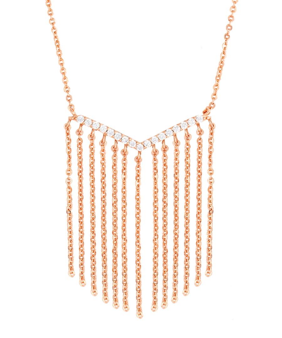 Lily rose gold-plated tassel necklace Sale - sole du soleil