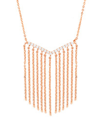 Lily rose gold-plated tassel necklace