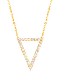 Lupine yellow gold-plate necklace