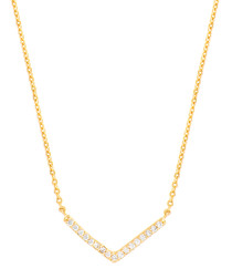 Lupine gold-plated necklace