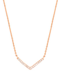 Lupine rose gold-plate necklace