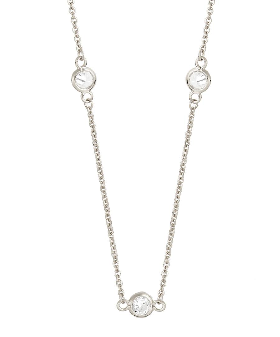 Marigold white gold-plated necklace Sale - sole du soleil