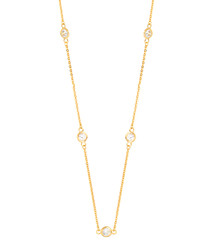 Marigold gold-plate & zirconia necklace
