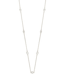 Marigold white gold-plated necklace