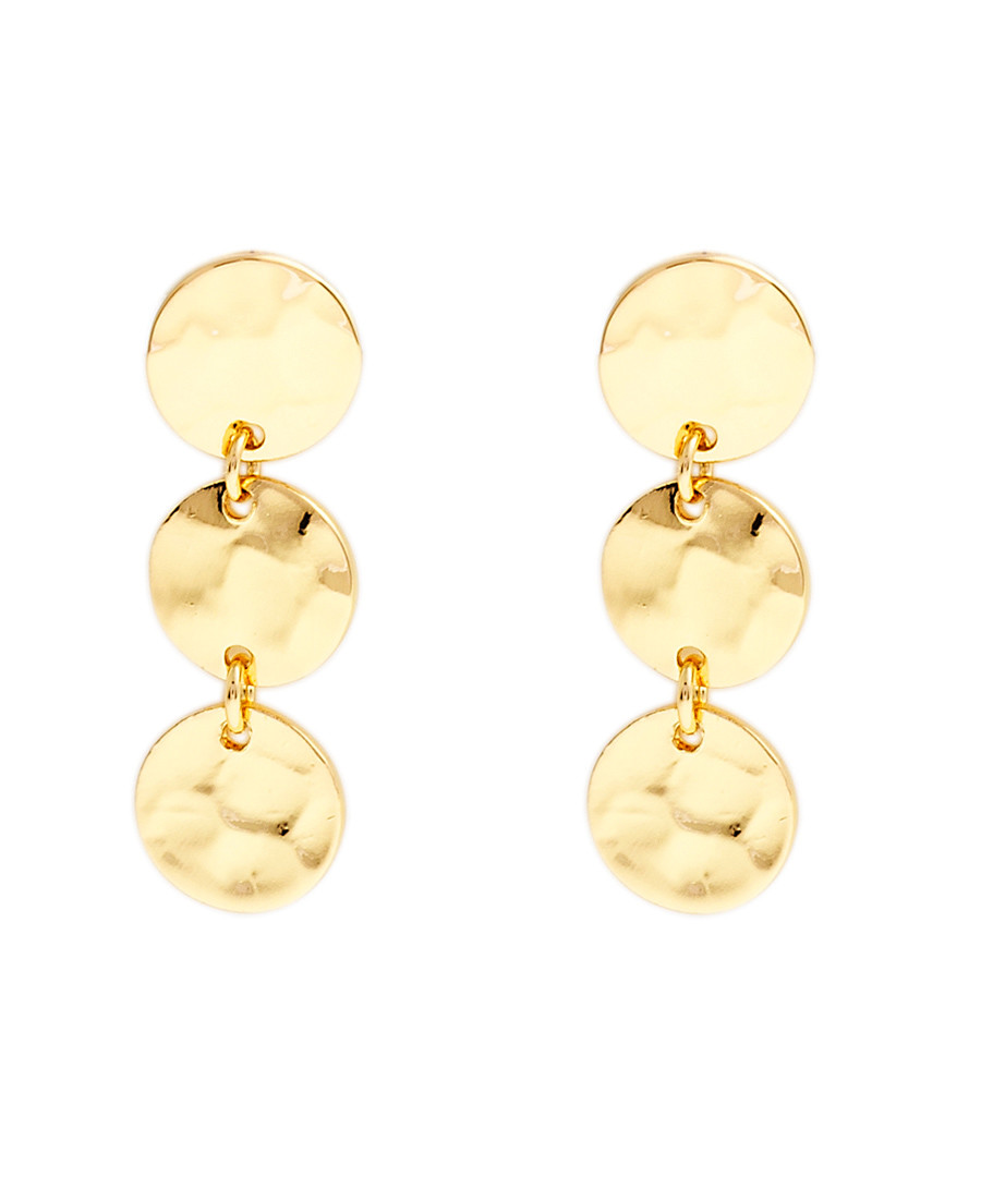 Marigold gold-plated disc earrings Sale - sole du soleil
