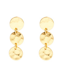 Marigold gold-plate disc earrings