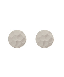 Marigold white gold-plate disc earrings