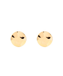 Marigold gold-plated disc studs