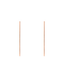 Lily rose gold-plate bar earrings
