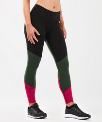 Fitness mid-rise colour block tights