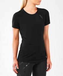 Run Heat black T-shirt