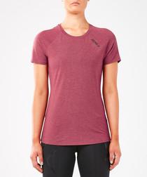 Run Heat dull red T-shirt