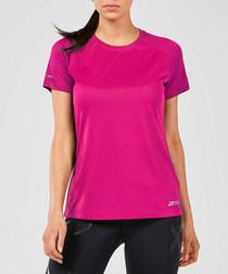 Run Xvent berry short sleeve T-shirt