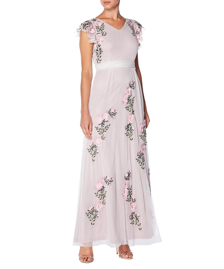 lilac floral V-neck maxi dress Sale - raishma