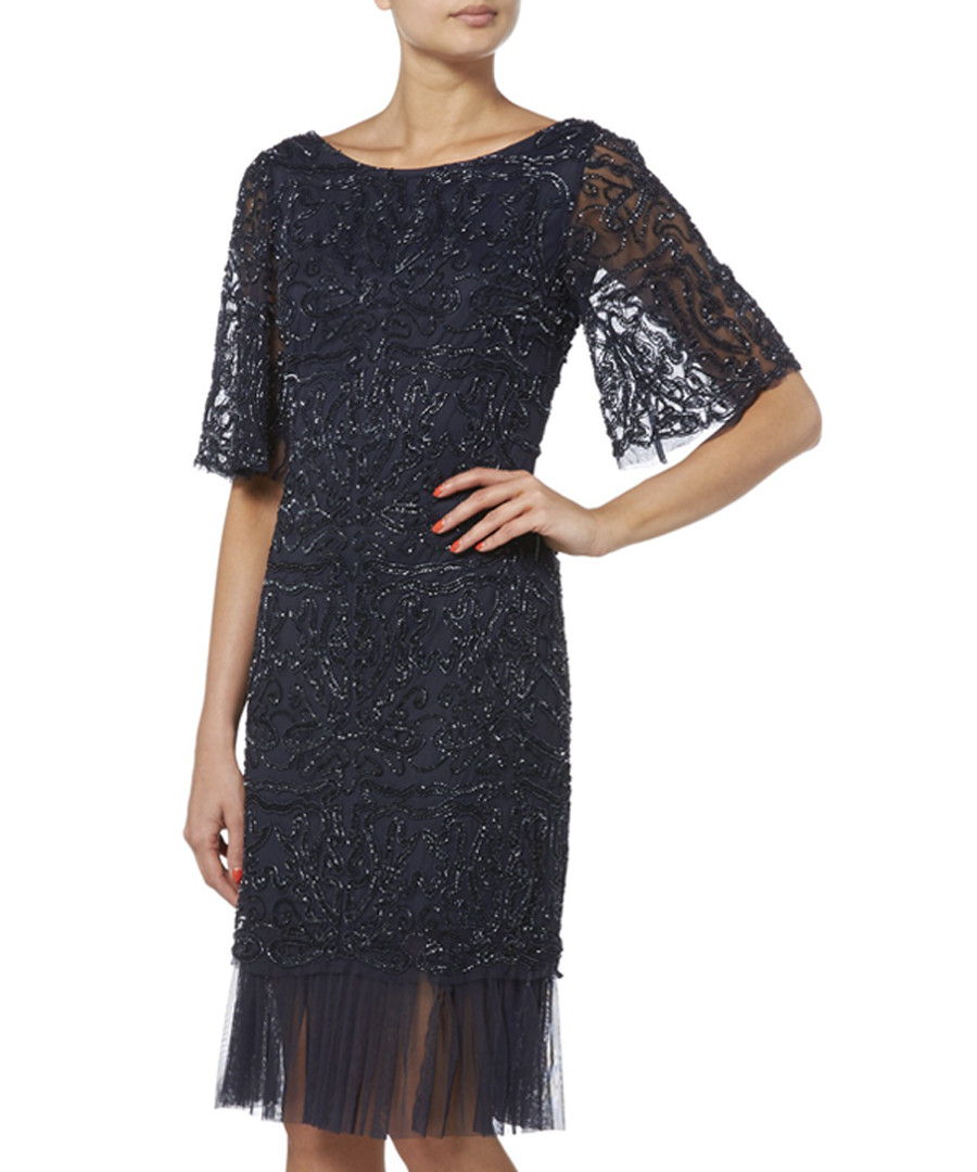 navy lace bell sleeve dress Sale - raishma