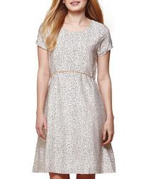 Ivory nordic dash print dress