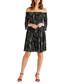 Black floral off-the-shoulder dress Sale - yumi Sale