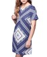 Blue tile print tunic Sale - yumi Sale