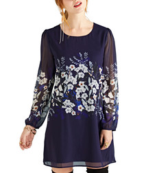 Botanical stardust long sleeve tunic