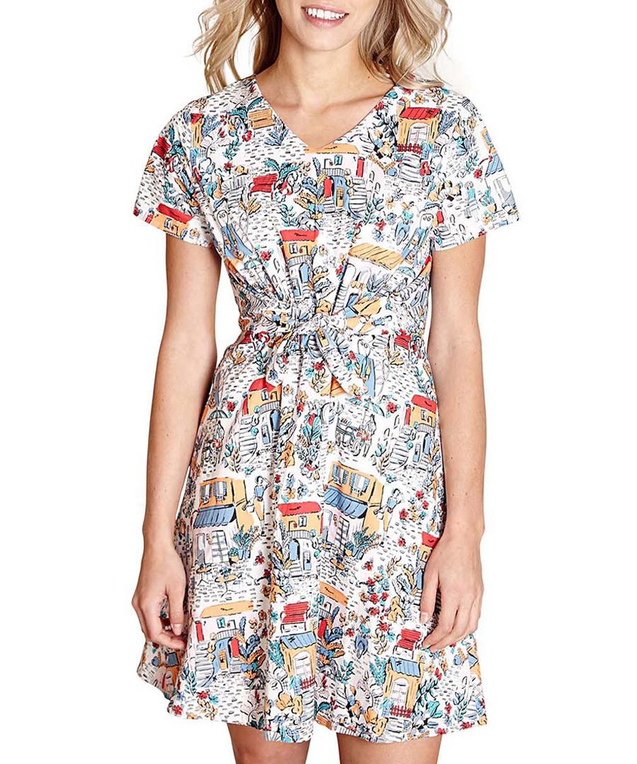 Retro traveller short sleeve mini dress Sale - yumi