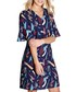 Abstract Strokes navy print mini dress Sale - yumi Sale