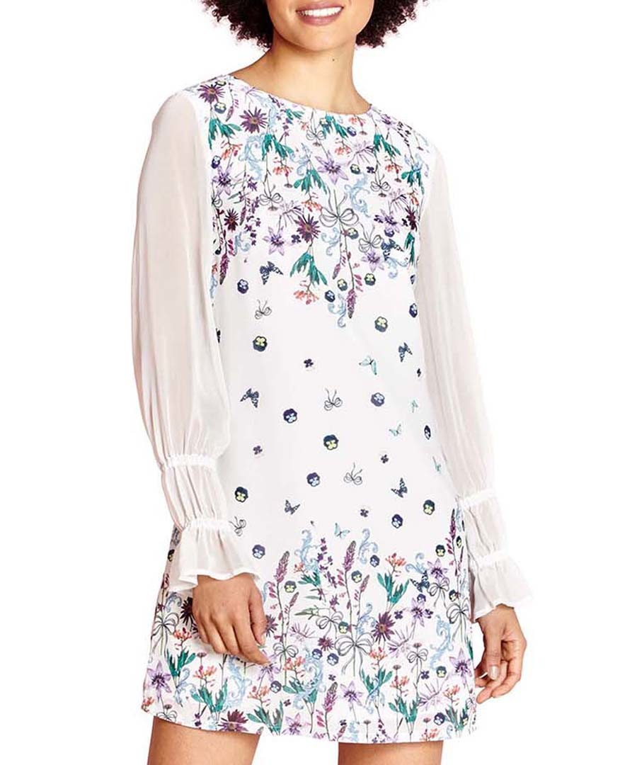 Ivory blouson sleeve mini dress Sale - yumi