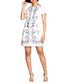 Ivory print short sleeve mini dress Sale - yumi Sale