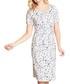 French botanical ivory print dress Sale - yumi Sale