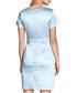 Pale blue floral print satin dress Sale - yumi Sale