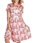 Organza pink sheer prom dress Sale - yumi Sale