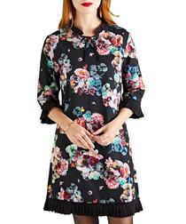 Midnight floral print mini dress