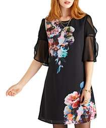 Midnight floral sheer sleeve tunic
