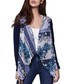 Blue print waterfall cardigan Sale - yumi Sale