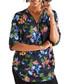 Butterfly print zip-front blouse Sale - yumi Sale