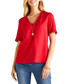 Red lace edged blouse Sale - yumi Sale