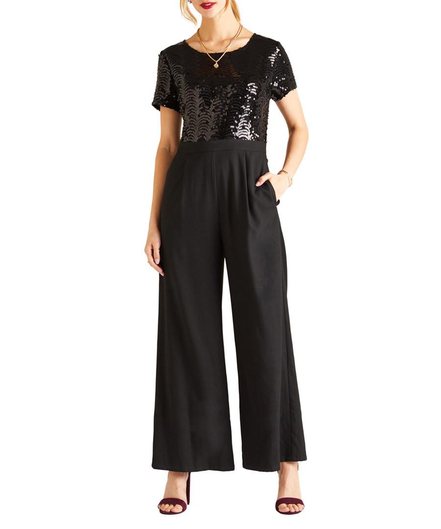 Black sequin body jumpsuit Sale - yumi
