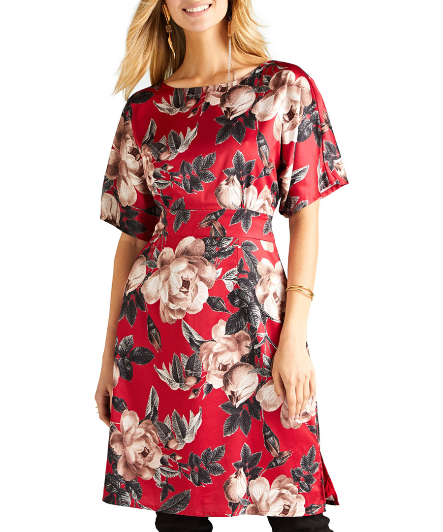 Rose print kimono dress Sale - yumi