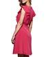 Fuchsia ruffle sleeve mini dress Sale - yumi Sale